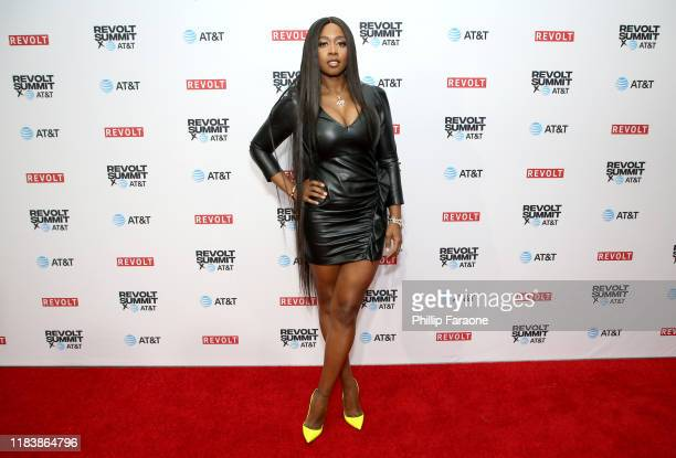 Remy Ma attends the REVOLT X ATT Host REVOLT Summit In Los Angeles at Magic Box on October 27 2019 in Los Angeles California