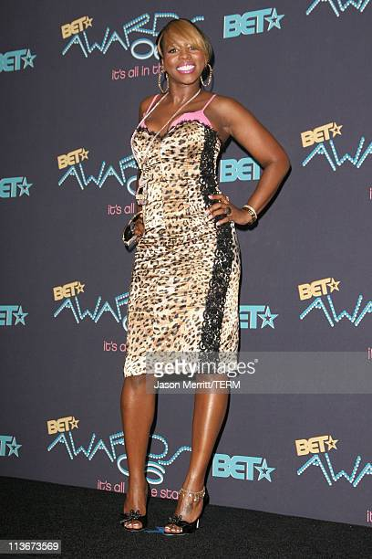 Remy Ma during 2006 BET Awards Press Room at The Shrine in Los Angeles California United States