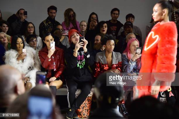 Remy Ma Parker Kit Hill Mery Racauchi and Ringo Merea attend the Christian Cowan fashion show during New York Fashion Week The Shows at Gallery II at...