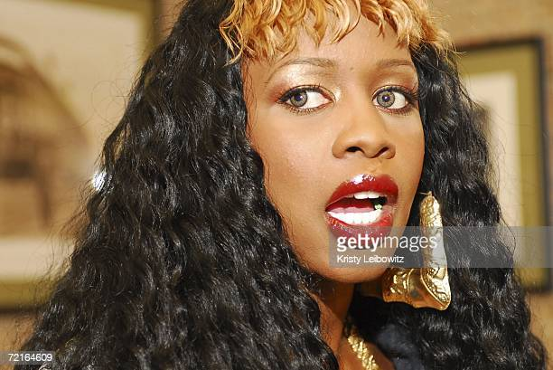 Remy Ma poses at the VH1 Hip Hop Celebrity At Your Service at Juniors Restaurant October 13, 2006 in New York City.