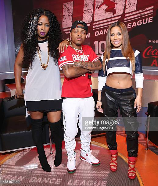 Remy Ma Shad Moss Keshia Chante attend 106 Park at BET studio on August 11 2014 in New York City
