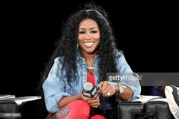 Remy Ma speaks onstage during day 2 of REVOLT Summit x AT&T Summit on September 13, 2019 in Atlanta, Georgia.