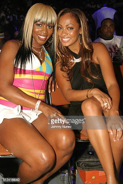 Remy Martin and La La Vasquez of MTV during The 2004 Source Awards Inside at James E Knight Theater in Miami Florida United States