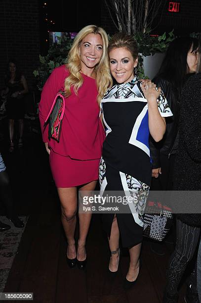 Remy Sharp and actress Alyssa Milano attend the Project Runway All Stars Season 3 premiere party presented by The Weinstein Company and Lifetime in...