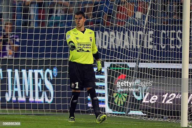 Remy Vercoutre of Caen during the French Ligue 1 match between SM Caen an Bastia at Stade Michel D'Ornano on August 27 2016 in Caen France