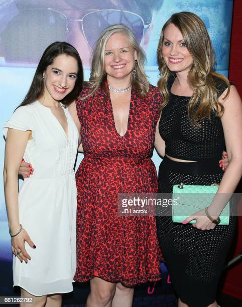 Remy Zaken Jane Kelly Kosek and Ashley Kate Adams attend premiere of Meritage Pictures' 'Pitching Tents' on March 30 2017 in Santa Monica California