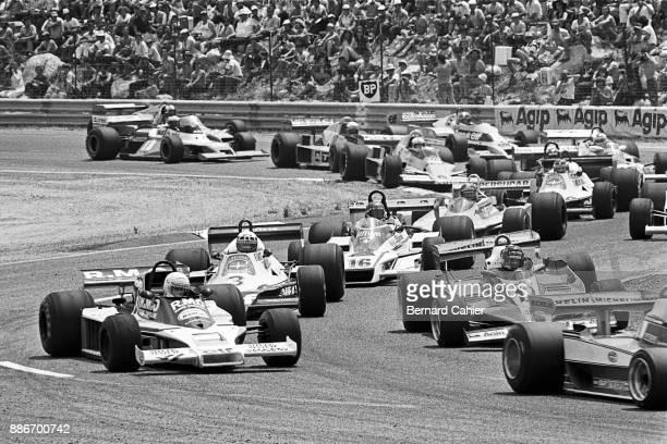 René Arnoux, Gilles Villeneuve, Patrick Depailler, Hans-Joachim Stuck, Surtees Ford TS19, Ferrari 312T3, Tyrrell-Ford 008, Shadow-Ford DN9, Grand...
