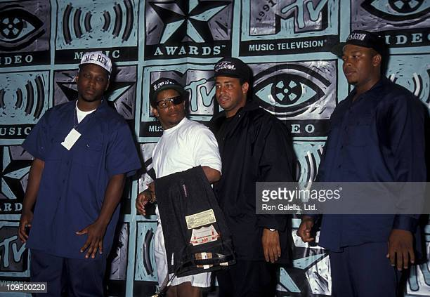 MC Ren EazyE guest and Dr Dre of NWA attend Eighth Annual MTV Video Music Awards on September 5 1991 at the Universal Ampitheater in Universal City...