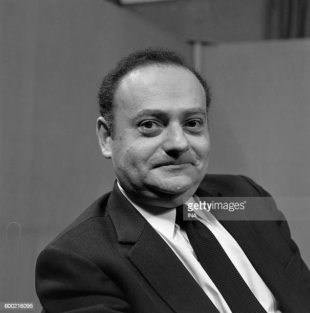 René Goscinny during the recording of the television program 'Panorama'