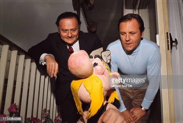 René Goscinny und Albert Uderzo 1970