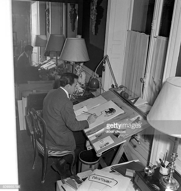 Ren�� Gruau Italian fashion illustrator In 1950