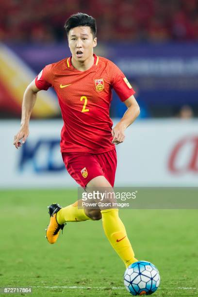 Ren Hang of China in action during their 2018 FIFA World Cup Russia Final Qualification Round Group A match between China PR and Uzbekistan on 31...