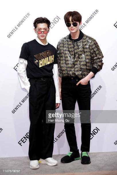 Ren of boy band NU'EST and Hwang MinHyun of boy band Wanna One attend the photocall for GENTLE MONSTER X FENDI Collaboration 'Gentle Fendi'...