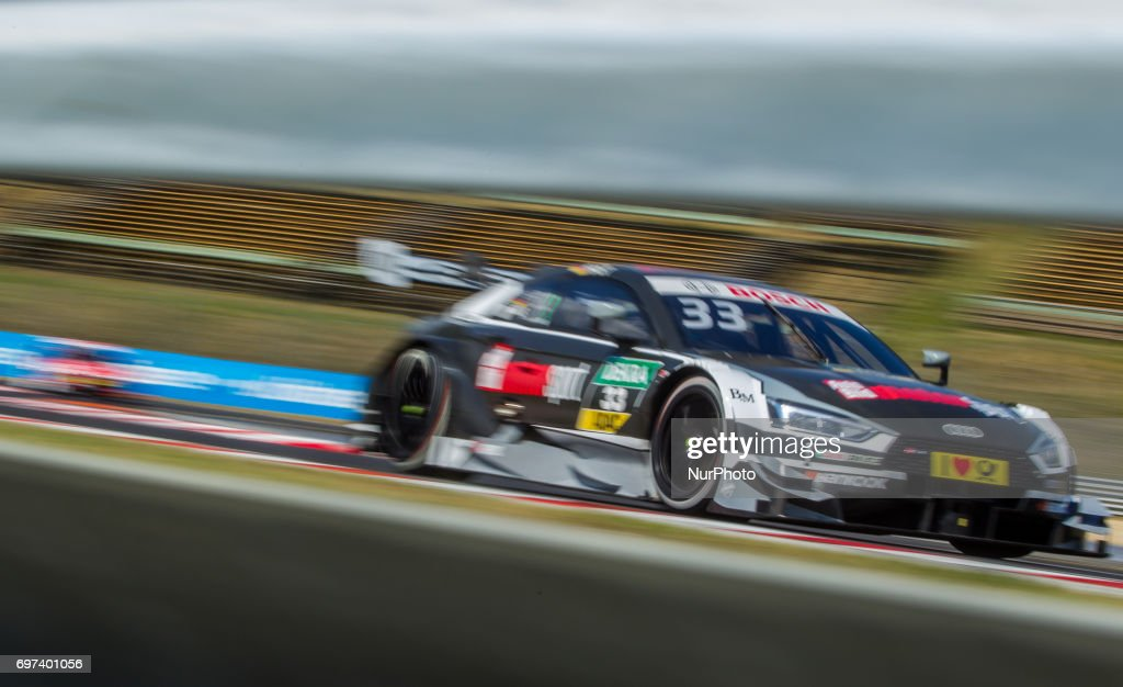 René Rast of Deutchalnd and Audi Sport Team Rosberg racing driver during the Hungarian DTM race on June 18, 2017 in Mogyoród, Hungary.