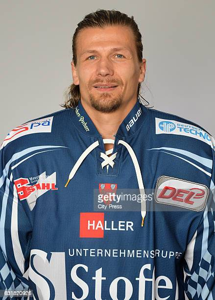 René Roethke of the Straubing Tigers during the portrait shot on August 19, 2016 in Straubing, Germany.