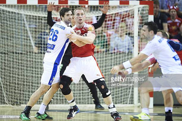 Ren Toft Hansen Of Denmark Defend During The Bygma Cup Match Picture Rene