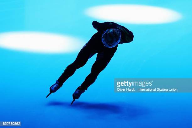 Ren Ziwei before the Men«s 1000m quarter finals race during day two of ISU World Short Track Championships at Rotterdam Ahoy Arena on March 12 2017...