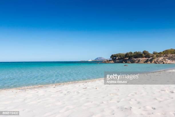 rena bianca beach in portisco (olbia) costa smeralda, olbia-tempio province, sardinia district, italy - costa smeralda stock pictures, royalty-free photos & images