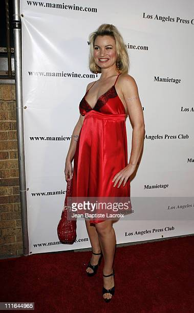 Rena Riffel arrives at the National Launch event for Mamie Van Doren's new wine collection MAMITAGE at Eleven Club on November 14 2007 in West...