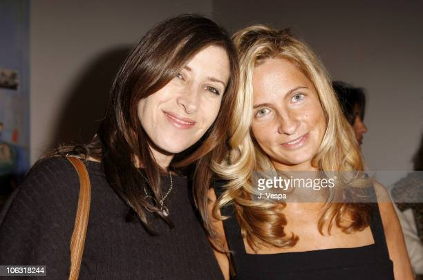 """Rena Ronson and Holly Wiersma during Damian Elwes """"Inside Picasso's Studio"""" Art Exhibition at M+B in West Hollywood, California, United States."""
