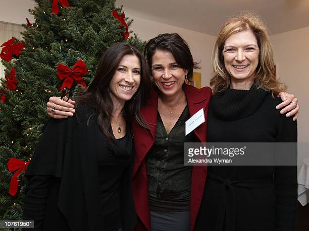 Rena Ronson Rebecca Yeldham and Dawn Hudson at Film Independent's 2010 Women's Luncheon held at Michael's Restaurant on December 15 2010 in Santa...
