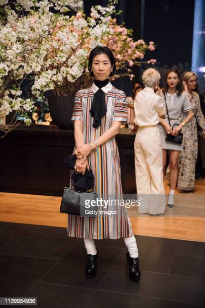 Rena Semba attends the Tory Burch Ginza Boutique Opening After Party on April 02 2019 in Tokyo Japan