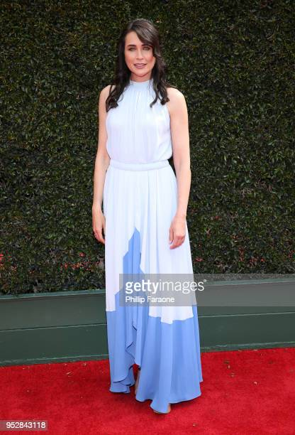 Rena Sofer attends the 45th annual Daytime Emmy Awards at Pasadena Civic Auditorium on April 29 2018 in Pasadena California