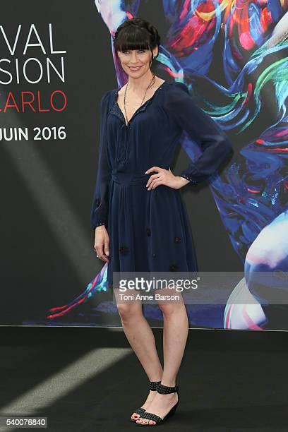 Rena Sofer attends The Bold and The Beautiful Photocall as part of the 56th Monte Carlo Tv Festival at the Grimaldi Forum on June 13 2016 in...
