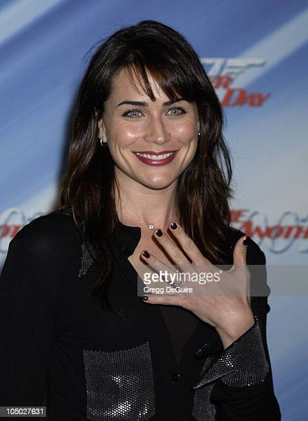 Rena Sofer during Die Another Day Los Angeles Premiere at Shrine Auditorium in Los Angeles California United States
