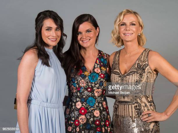 Rena Sofer Heather Tom and Katherine Kelly pose for portrait at 45th Daytime Emmy Awards Portraits by The Artists Project Sponsored by the Visual...