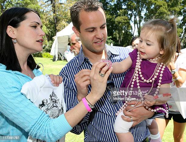Rena Sofer husband Sanford Bookstaver and daughter at Aristabrat Photo by Michael Bezjian/WireImage for Silver Spoon