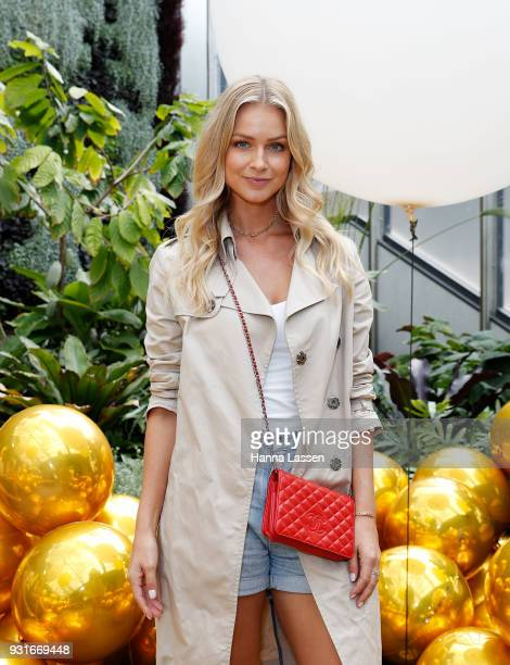 Renae Ayris attends the Pandora Gold Party at The Calyx on March 14 2018 in Sydney Australia