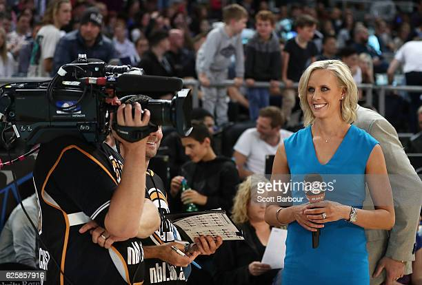 Renae Ingles looks on during the round eight NBL match between Melbourne United and the Sydney Kings at Hisense Arena on November 26 2016 in...