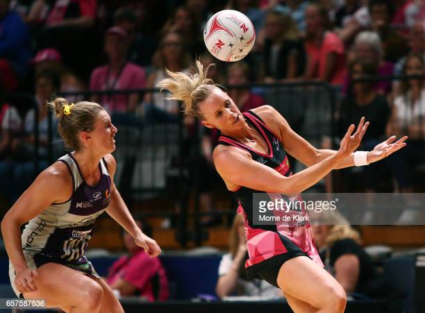 Renae Ingles of the Thunderbirds competes during the round six Super Netball match between the Thunderbirds and the Firebirds at Titanium Security...