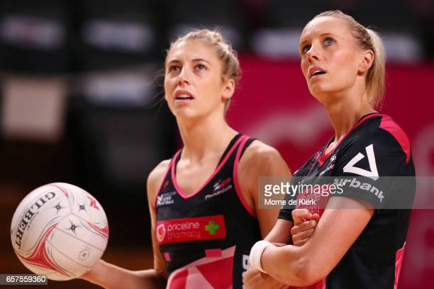 Renae Ingles of the Thunderbirds looks on before the round six Super Netball match between the Thunderbirds and the Firebirds at Titanium Security...