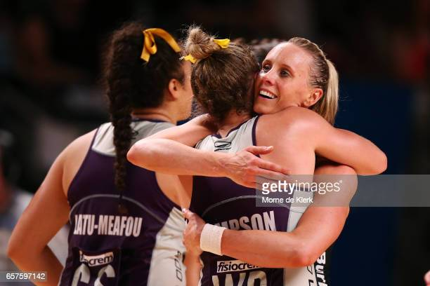 Renae Ingles of the Thunderbirds reacts after the round six Super Netball match between the Thunderbirds and the Firebirds at Titanium Security Arena...