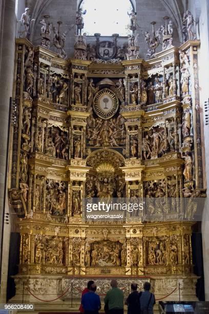 Renaissance altarpiece inside the cathedral of Santo Domingo de la Calzada