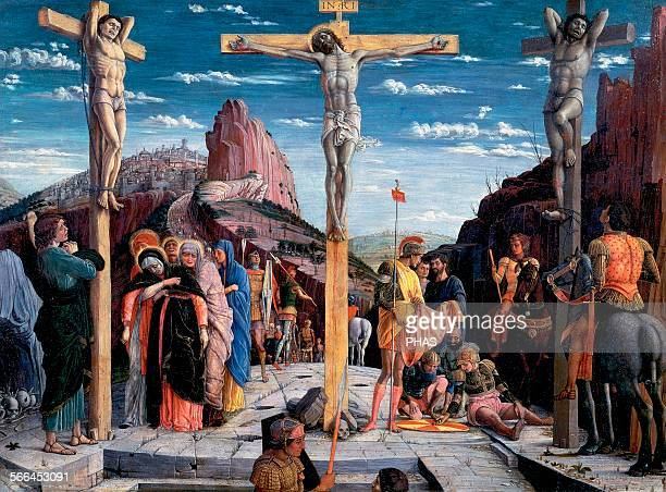 an analysis of the renaissance depiction of the crucifixion Lucas cranach the elder's depiction of christ on the cross is divided in half to   although he was a contemporary of italian renaissance artists such as.