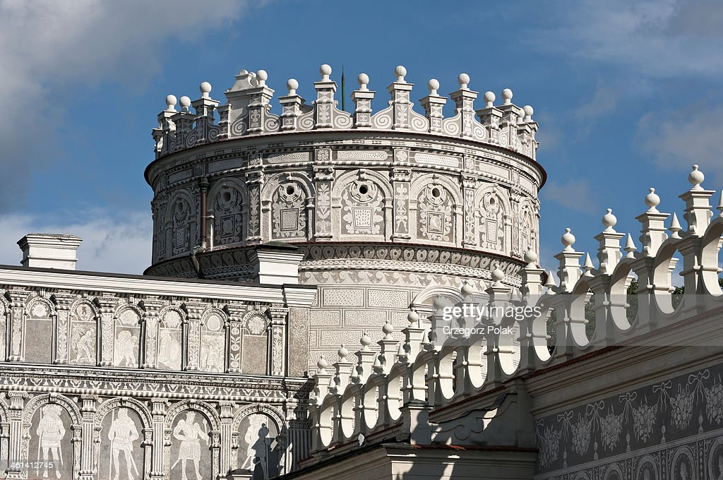 CONTENT] Renaissance, flanking tower with a crown in castle in the town of Krasiczyn, south-eastern Poland. This tower is called Noble Tower; this castle is one of the most beautiful ones in Poland
