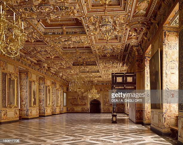Renaissance hall known as the Hall of Knights, Frederiksborg Castle, Hillerod, built during Christian IV's reign, by the Steenwinkel father and son...