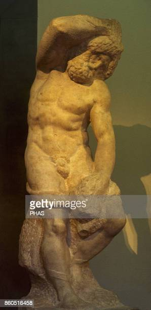 Renaissance sculpture Cinquecento Italy Michelangelo Buonarroti Second series of the Four Prisoners or Slaves or Captives They were begun by...