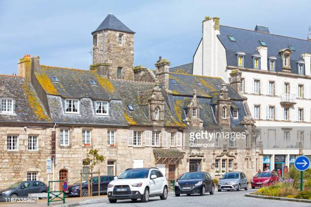 renaissance-style mansion in roscoff - finistere stock photos and pictures