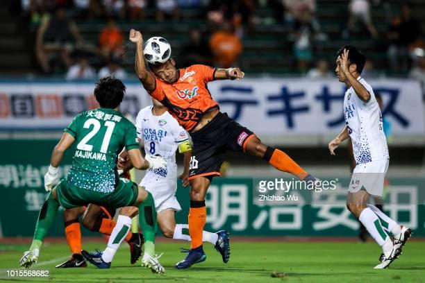 Renan in action during the J.League J2 match Renofa Yamaguchi and Tokushima Vortis at Ishin Me-Life Stadium on August 12, 2018 in Yamaguchi, Japan