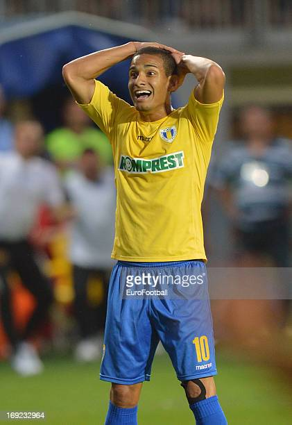Renan of FC Petrolul Ploiesti in action during the Romanian First Division match between FC Petrolul Ploiesti and FC Astra Ploiesti held on May 18...