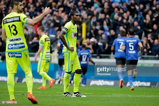 Renaoto Neto midfielder of KAA Gent looks dejected pictured during Jupiler Pro League match between Club Brugge KV and KAA Gent on OCTOBER2 2016 in...