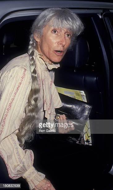 Renata Adler attends LordRosenthal Wedding Reception on June 10 1987 at John Kluge's home in New York City