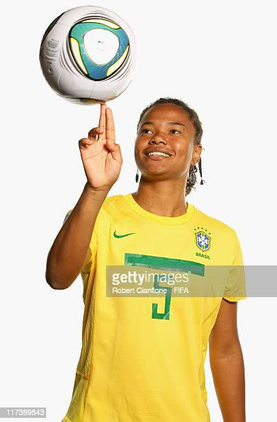Renata Costa of Brazil during the FIFA portrait session on June 26 2011 in Dusseldorf Germany