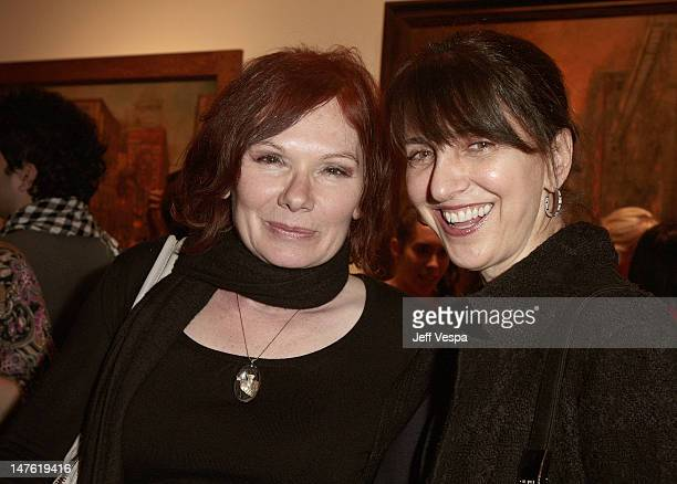 """Renata Helnwein and Ruth Vitale attend """"The Bryten Goss 2008 Memorial Exhibition"""" held at Track 16 Gallery in Bergamot Station on February 21, 2008..."""