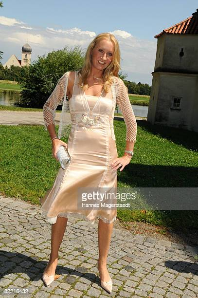 Renata Kochta attends the wedding of Designer Sarah Kern and Goran Munizaba at Blutenburg Castle on August 8 2008 in Munich Germany The couple had...