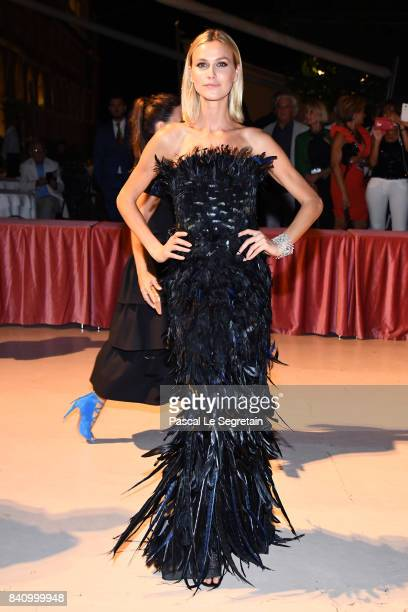 Renata Kuerten arrives at the dinner after the Opening Ceremony during the 74th Venice Film Festival at Excelsior Hotel on August 30 2017 in Venice...